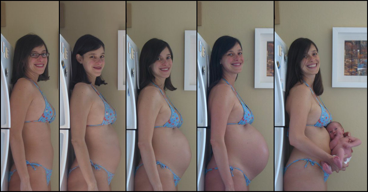 Very Pregnant progression nude